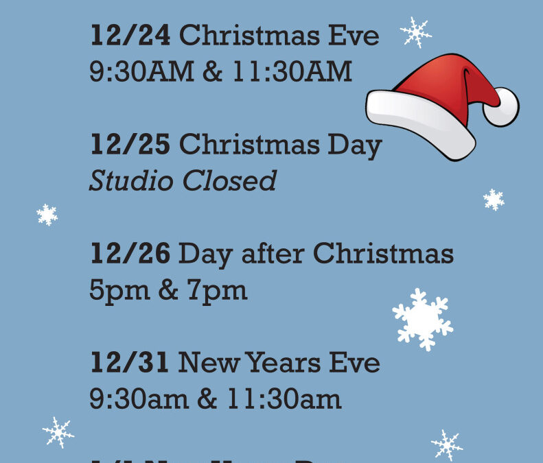 Modified Holiday Schedule is Here!