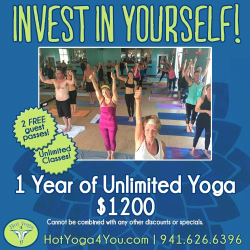 one year hot yoga special