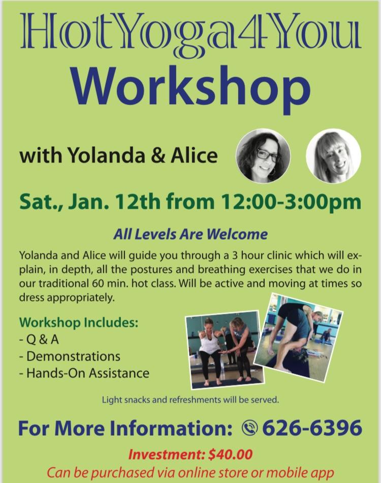 HotYoga4You Workshop with Yolanda & Alice